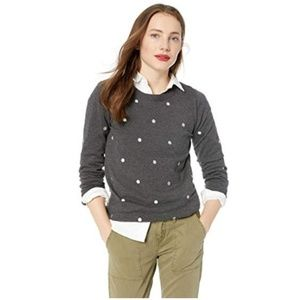 J. Crew merino wool polka dot sweater